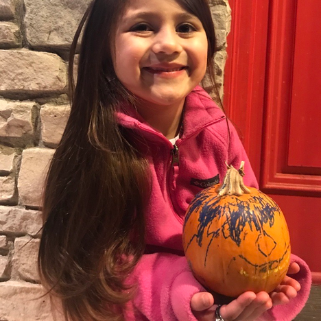 3. Colored Pumpkin