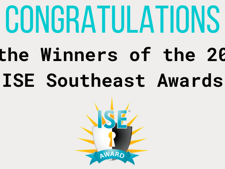 Congratulations to the award winners at the ISE Southeast Forum & Awards 2019