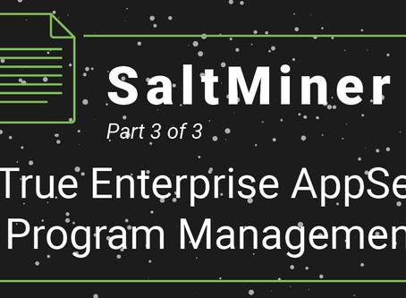 SaltMiner- True Enterprise AppSec Program Management