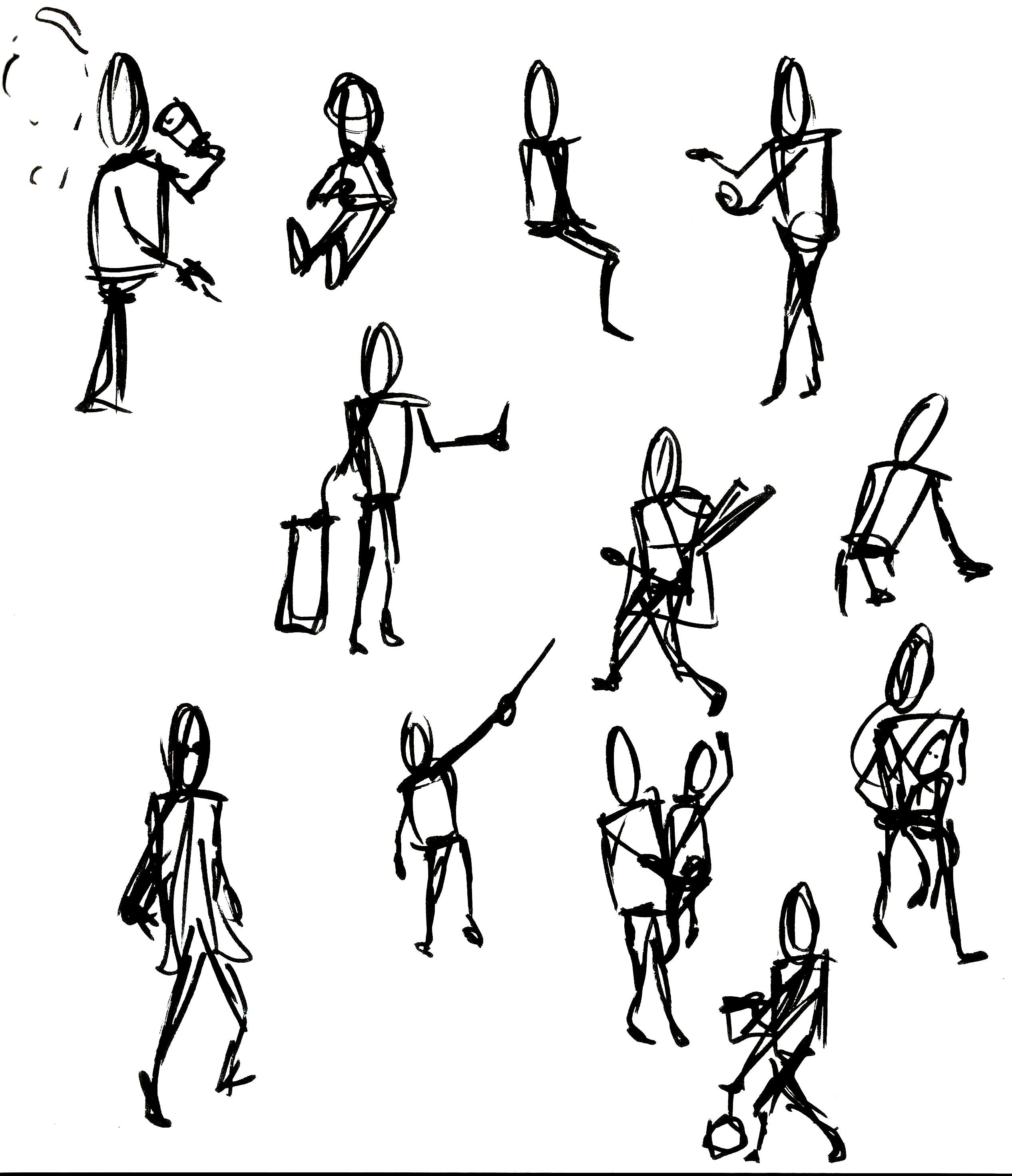 Gestural figures