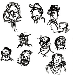 Observed faces (Ink)