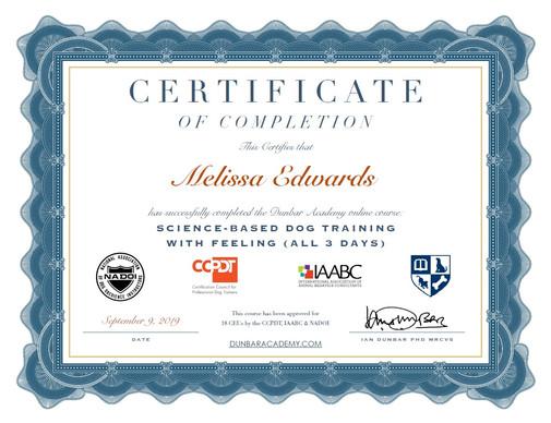 science based dog training