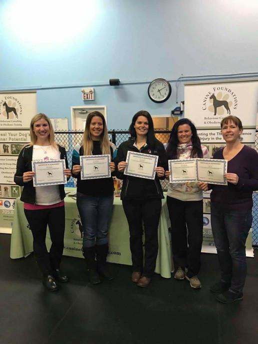 Dog Walker Family w/ certificates