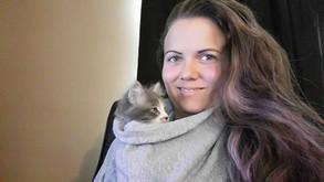 Melissa w/ foster kitten