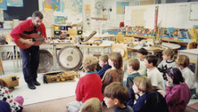Kluane with school kids - MASC