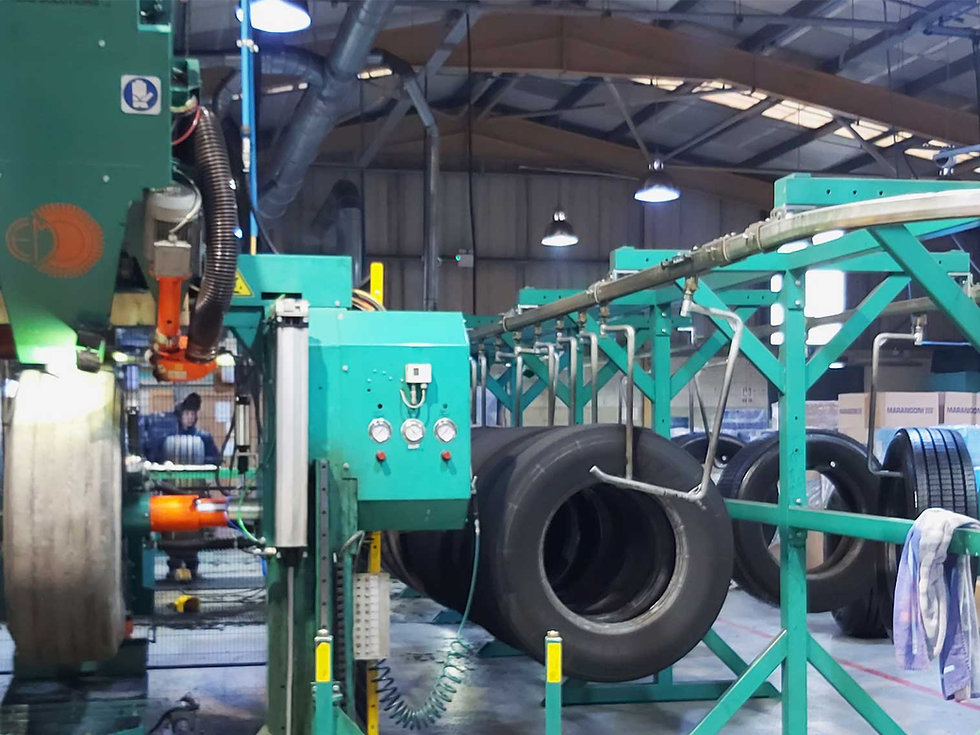 lorry and truck tyre retread facility in Ireland