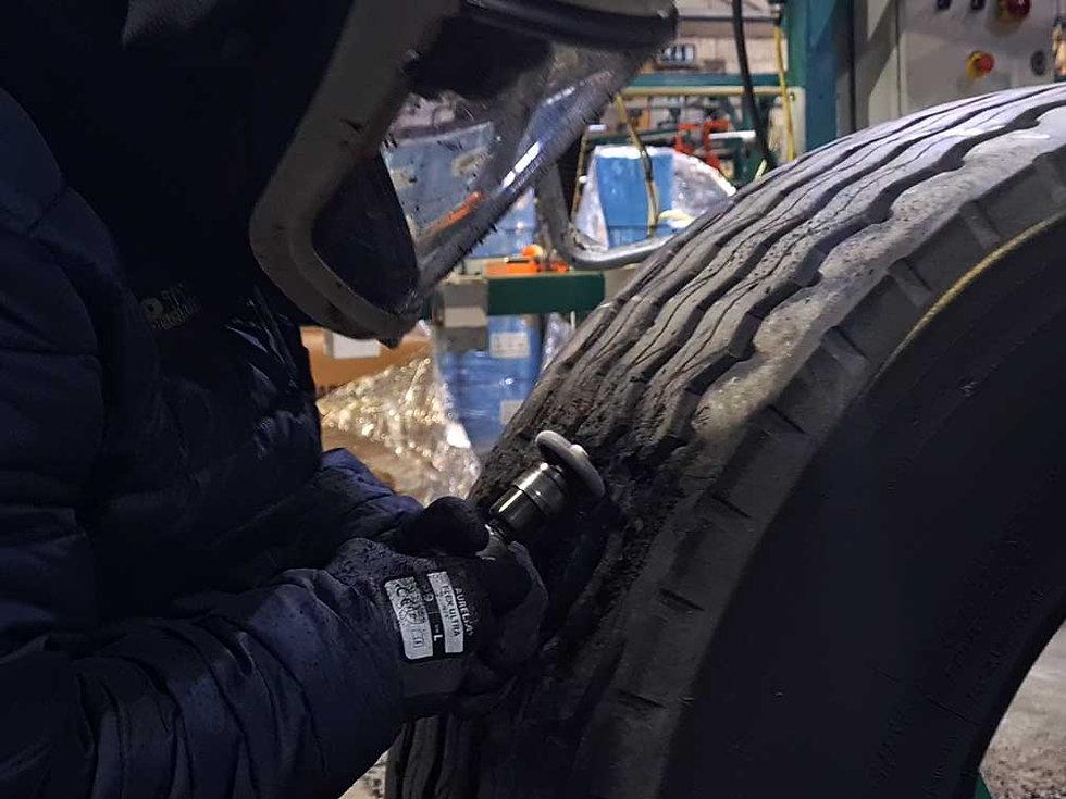 Truck tyre repairs