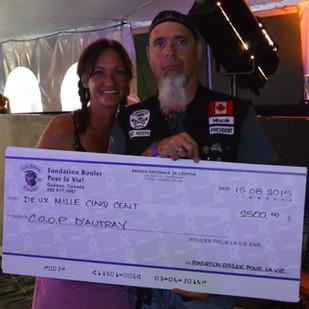 $2500 remis a la COOP d'Autray