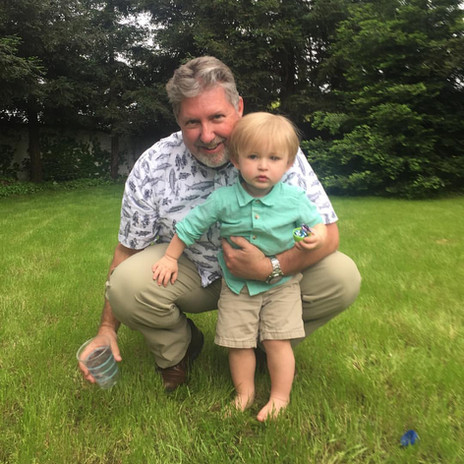 Pastor Kevin with his youngest grandson,
