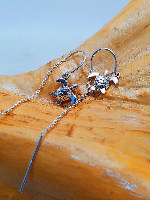 Baby Turtle Threader Earrings
