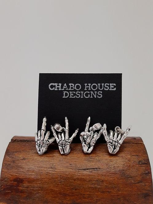 Bone Hand Charm