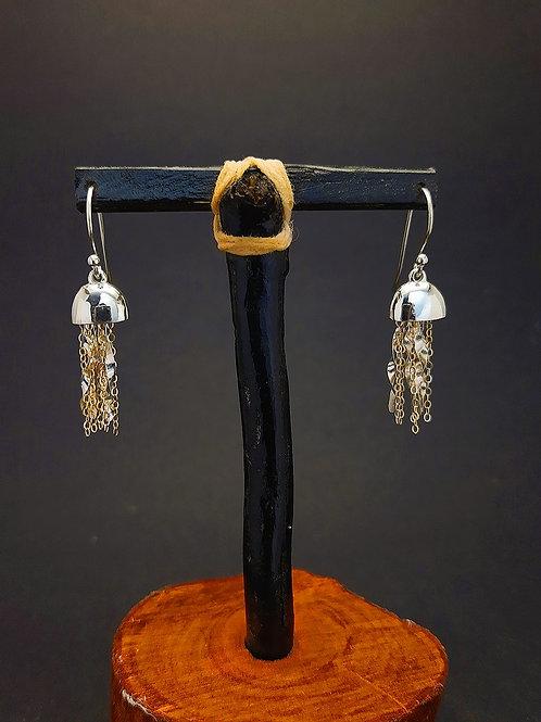 Jellyfish Earrings w/14k gold