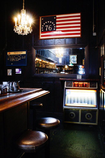 Enjoy your cocktails by the jukebox at Dutch Kills with the soulful sounds of over 200 songs on vintage 45rpm vinyl records.  Photo credit: Natalie Jacob  Click the link below to listen to the top-ranking jukebox hits from Dutch Kills:
