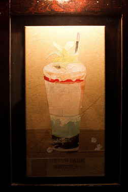 A portrait of The Queen's Park Swizzle at Dutch Kills by Brandon Friend, circa 2009.  Photo credit: Isaac Rosenthal