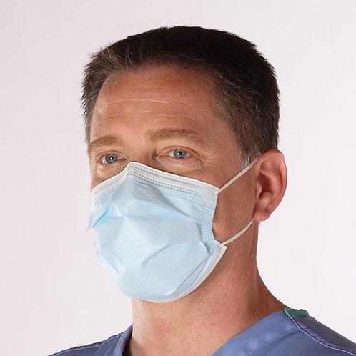 Dry-Shield Level 3 - Fluid Resistant Earloop Mask with Foam Nose Strip - 400/cs
