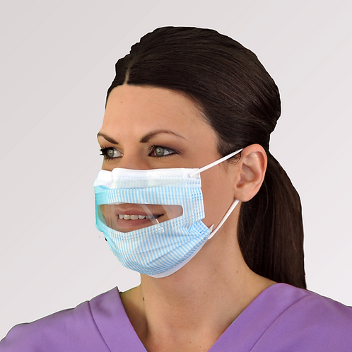 Clear-View Window Mask - ASTM Level 1 - Case of 100