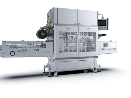 Reduce packaging waste & increase productivity with the Revolution Tray Sealer