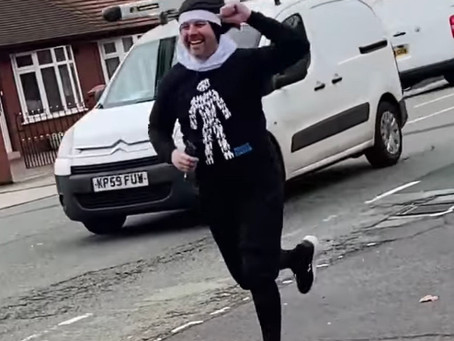 Stu raises over £1,000 for Prostate Cancer UK dressed as a nun!