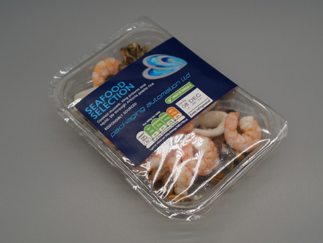 Low cost tray sealing solution with maximum output for the seafood sector