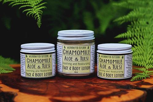 Chamomile-Aloe-Tulsi Face & Body Lotion