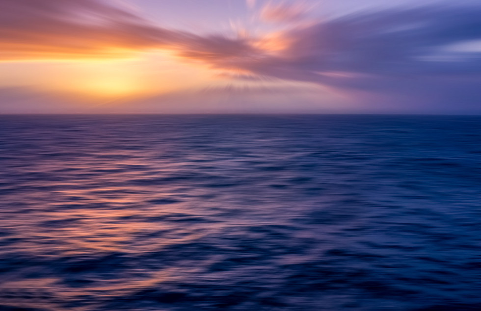 Sunrise in the South Pacific