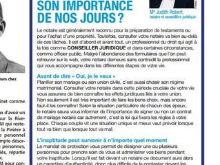 Chronique juridique parue dans le Journal La Revue,      19 octobre 2016