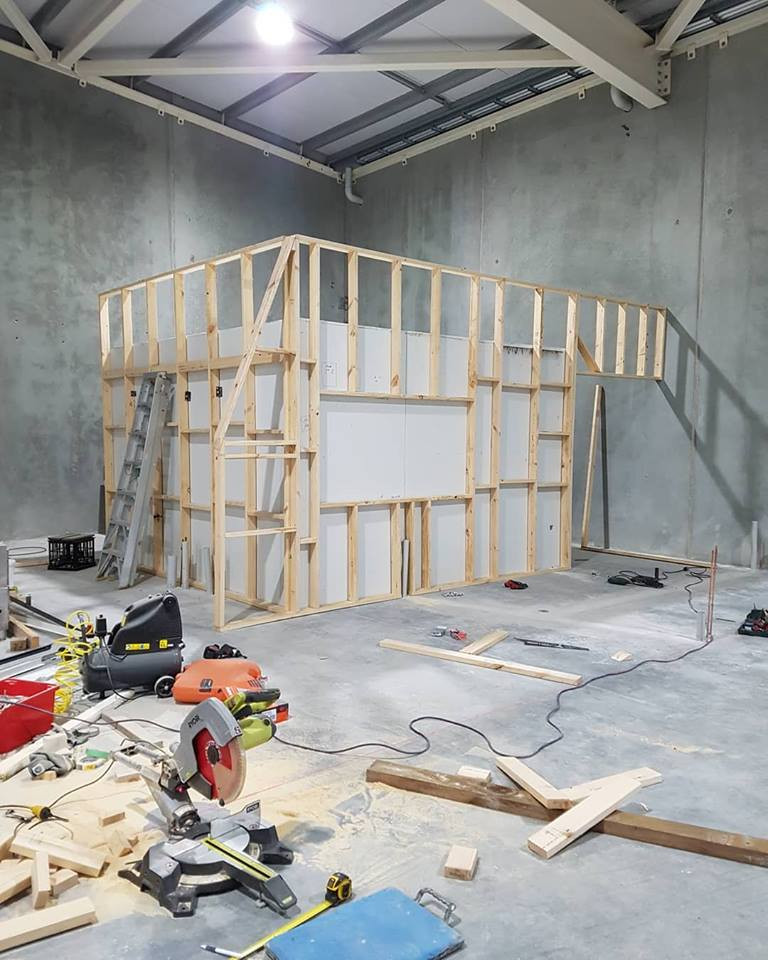 Construction of the taproom