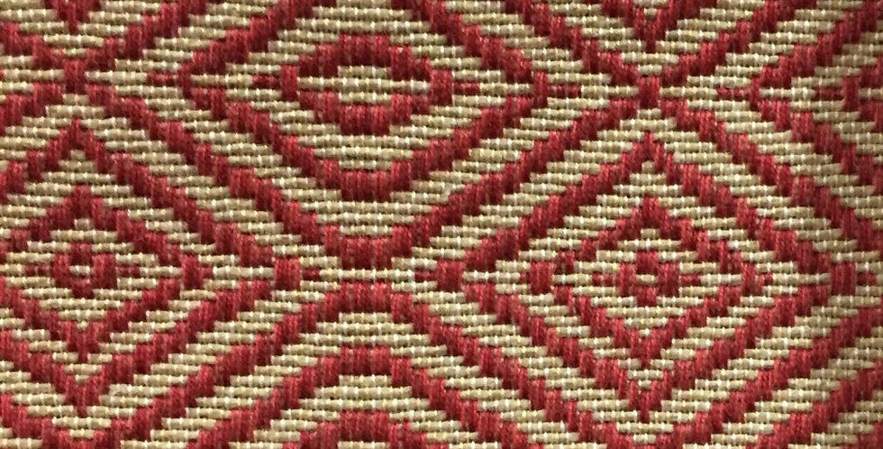 Red Woven - Natural - Diamond