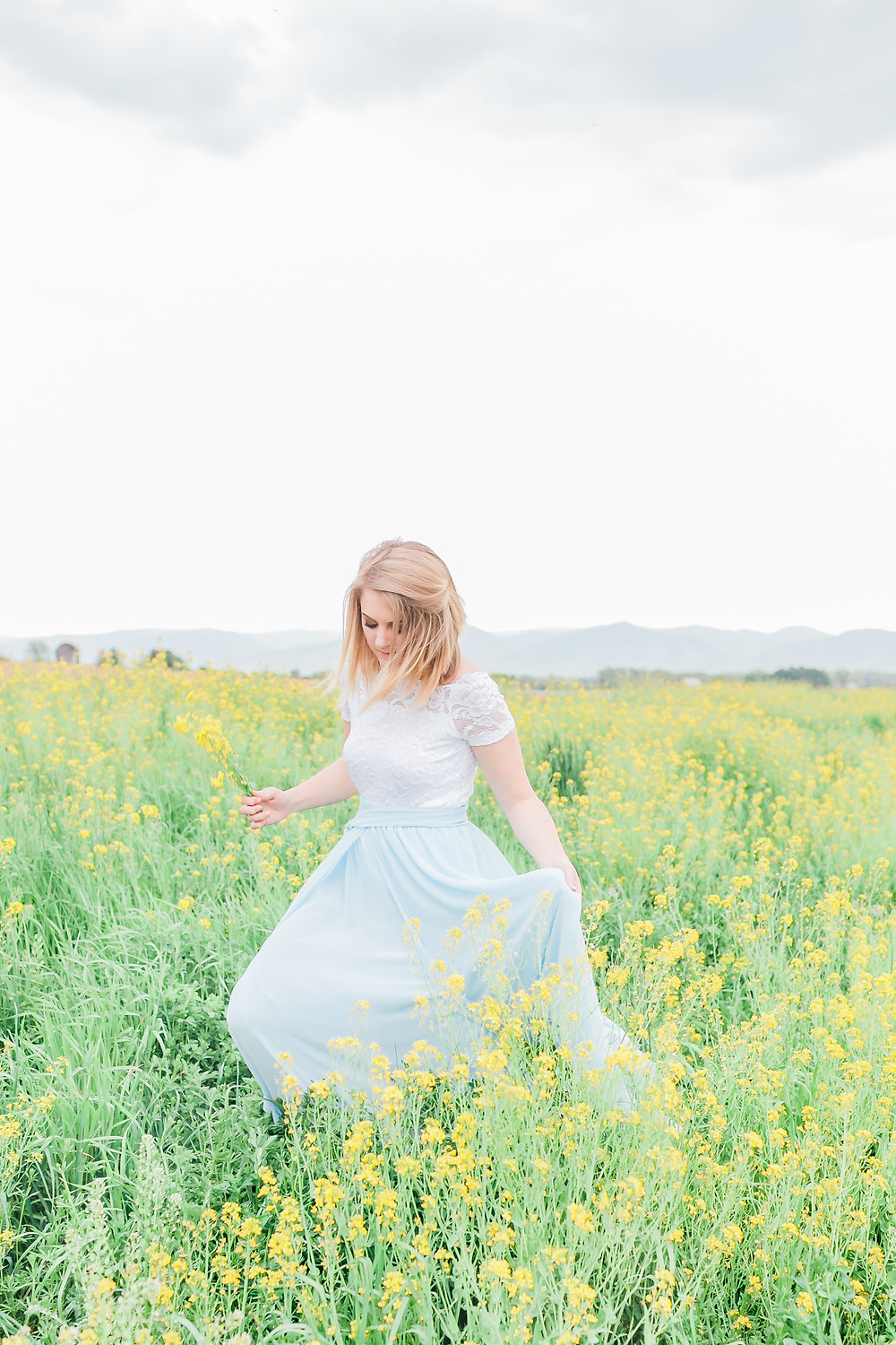 Yellow field portrait session 16