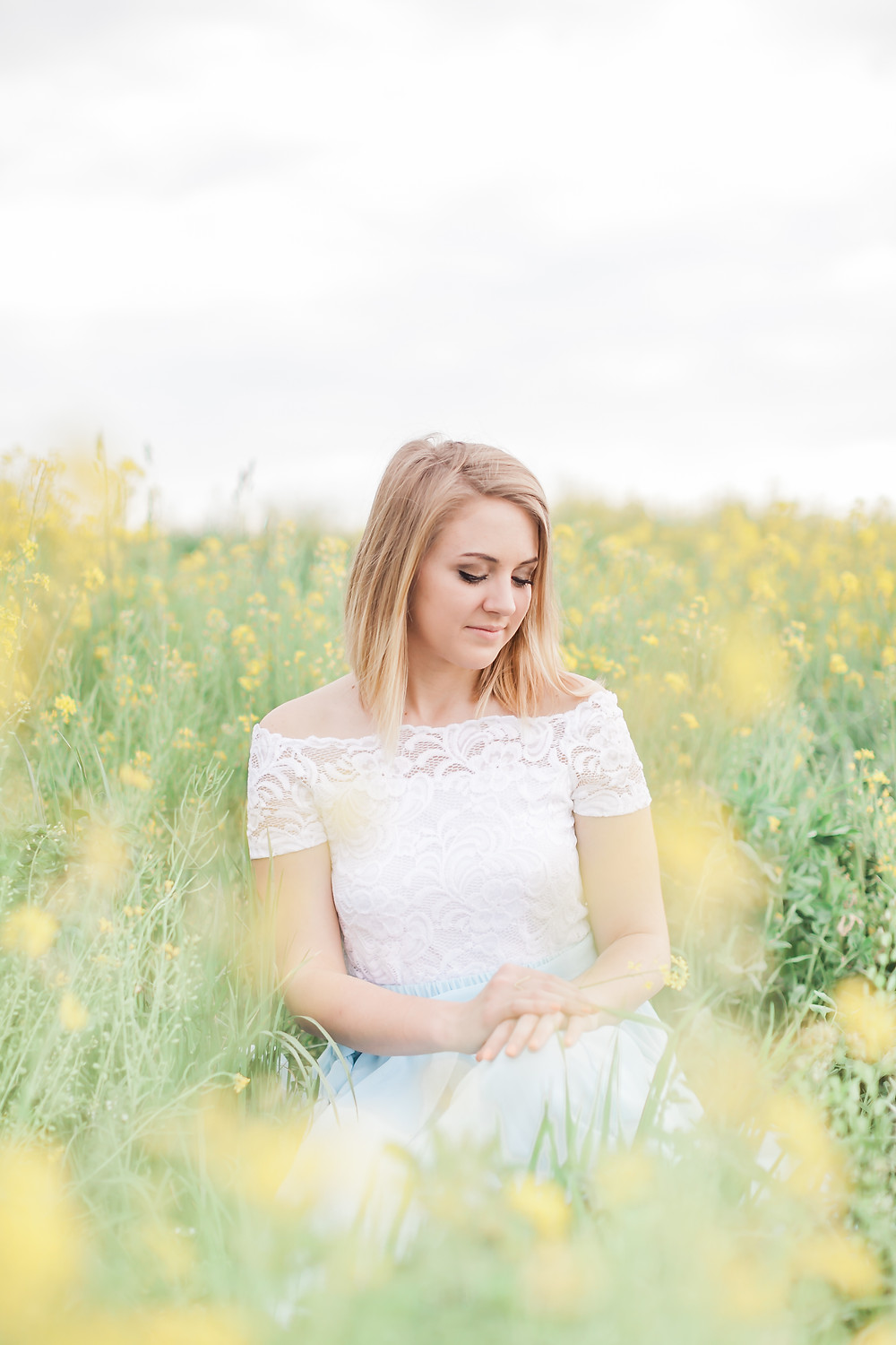 Yellow field portrait session 8