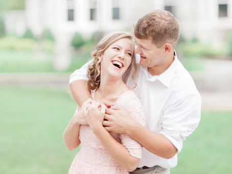 Downtown Harrisonburg Engagement Session | Harrisonburg, VA