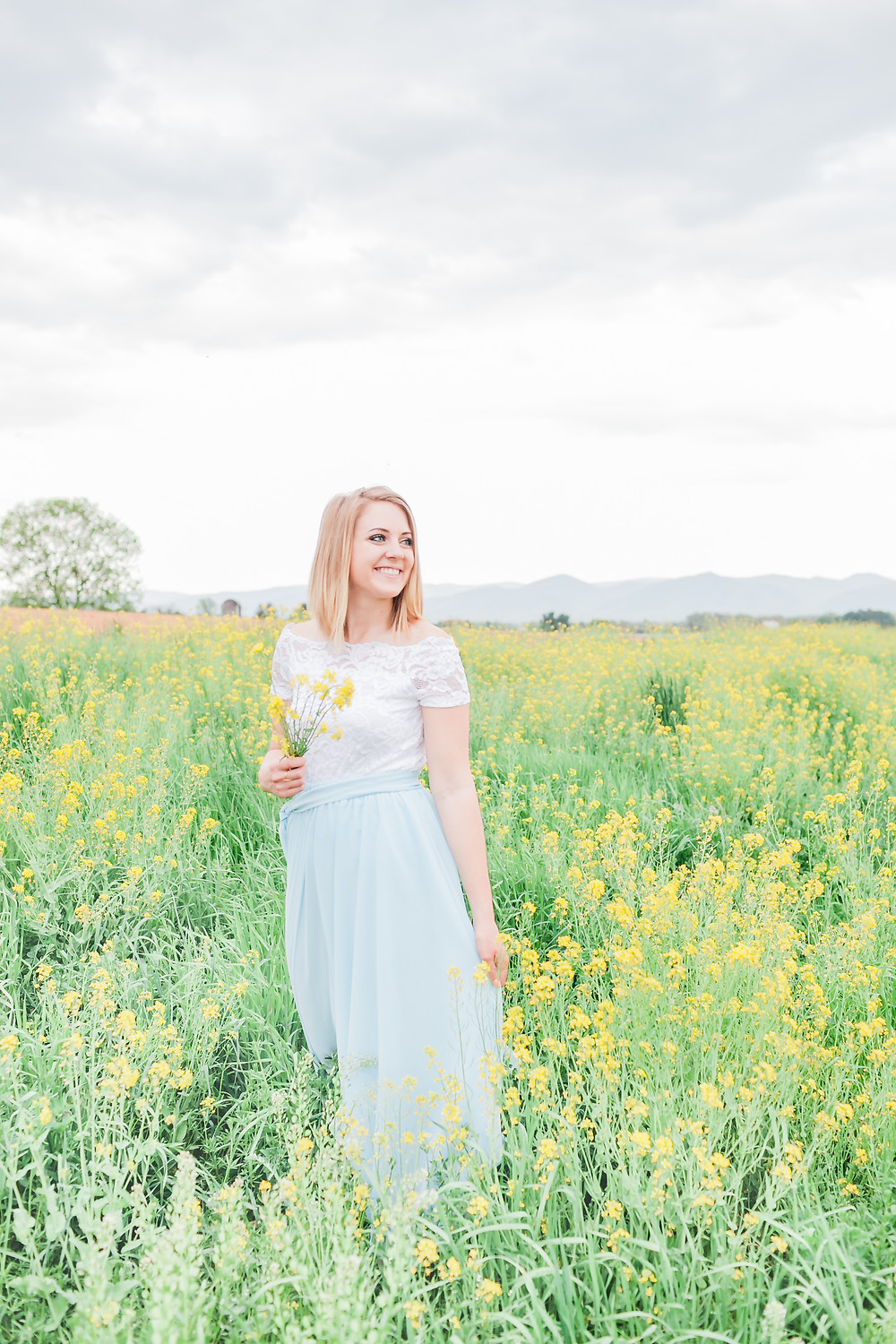 Yellow field portrait session 21