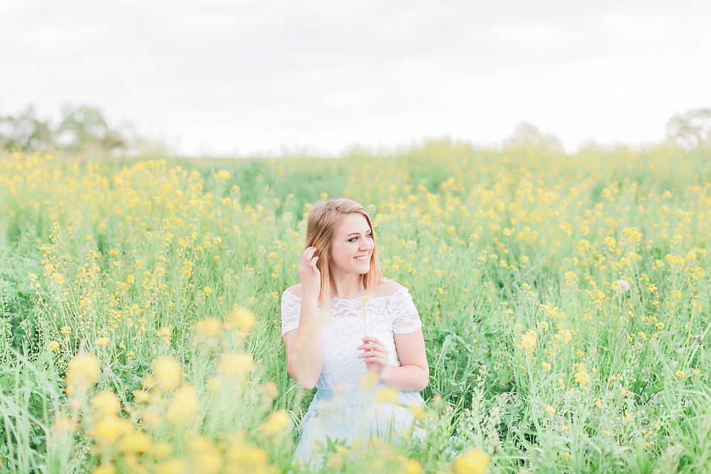 Yellow field portrait session 1