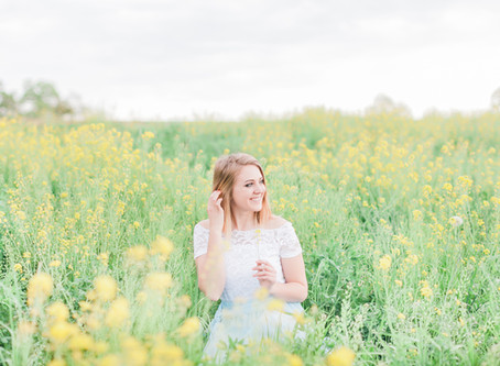 Yellow Field Portrait Session   Harrisonburg, VA