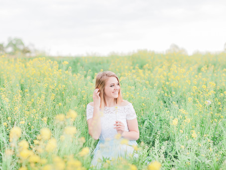 Yellow Field Portrait Session | Harrisonburg, VA