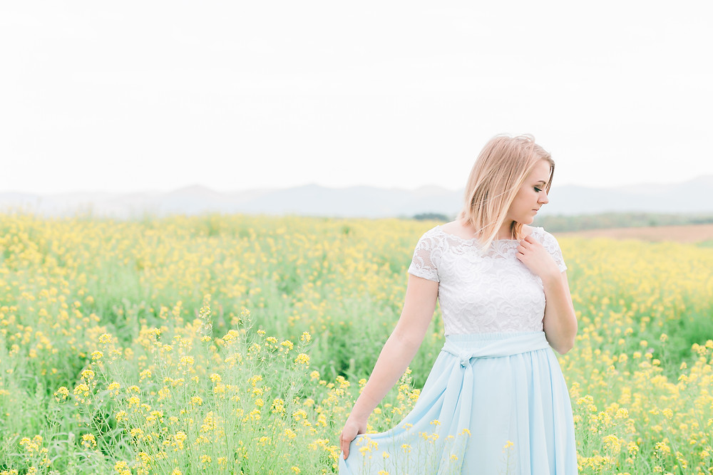 Yellow field portrait session 6