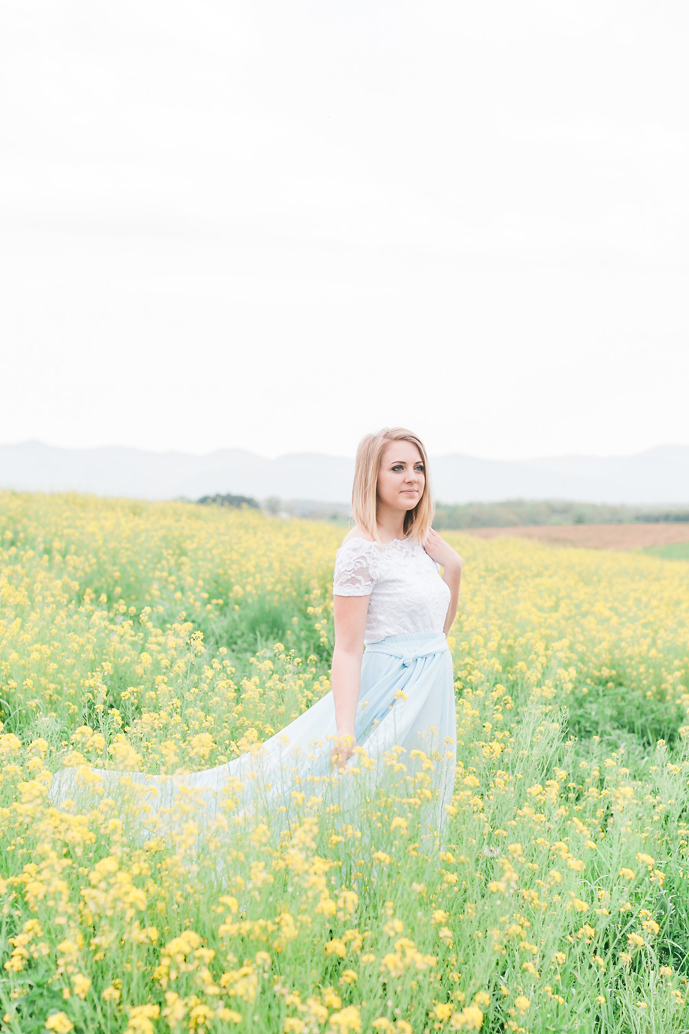 Yellow field portrait session 11
