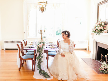Champagne & Blush Styled Shoot | Bridgewater, VA