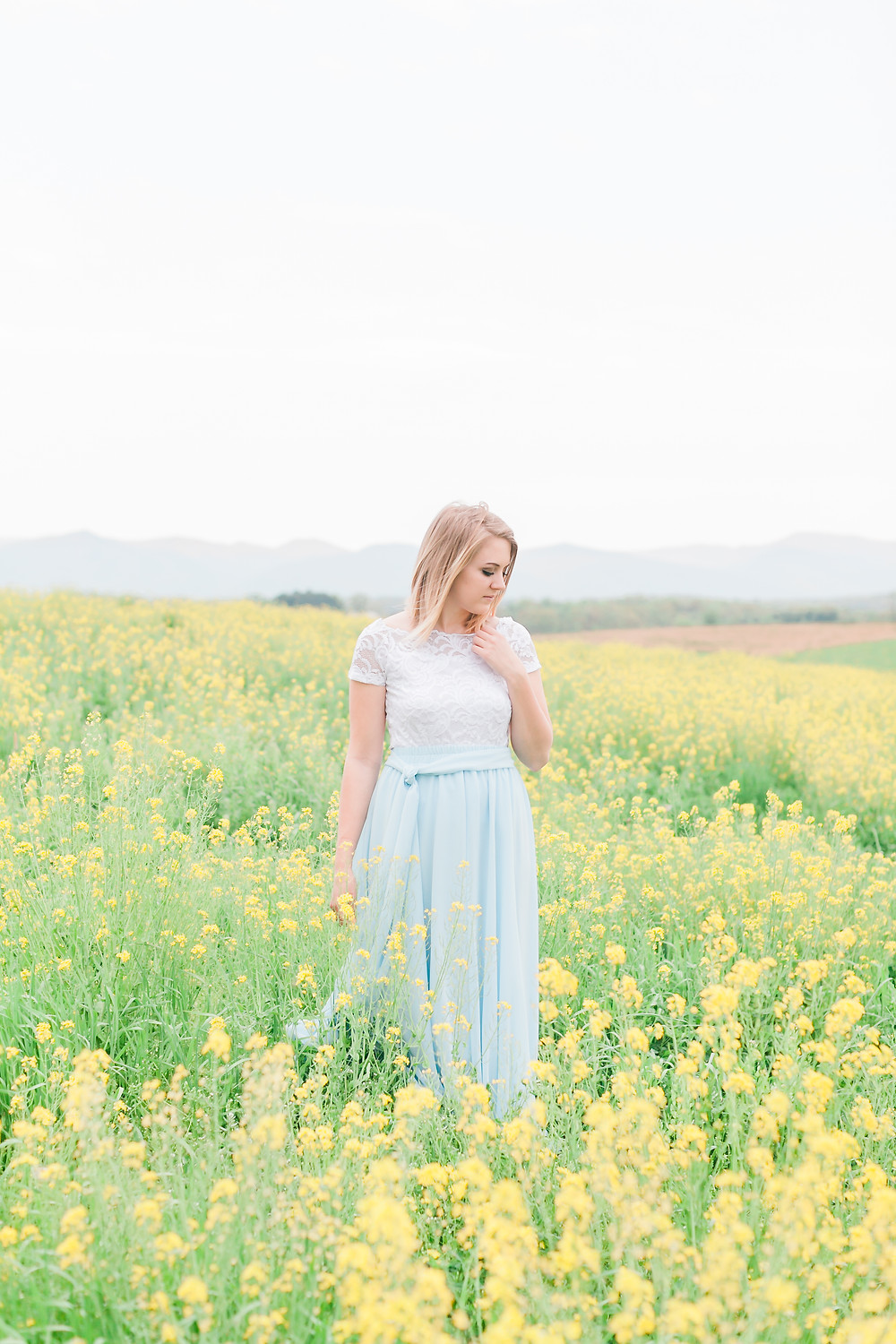 Yellow field portrait session 2