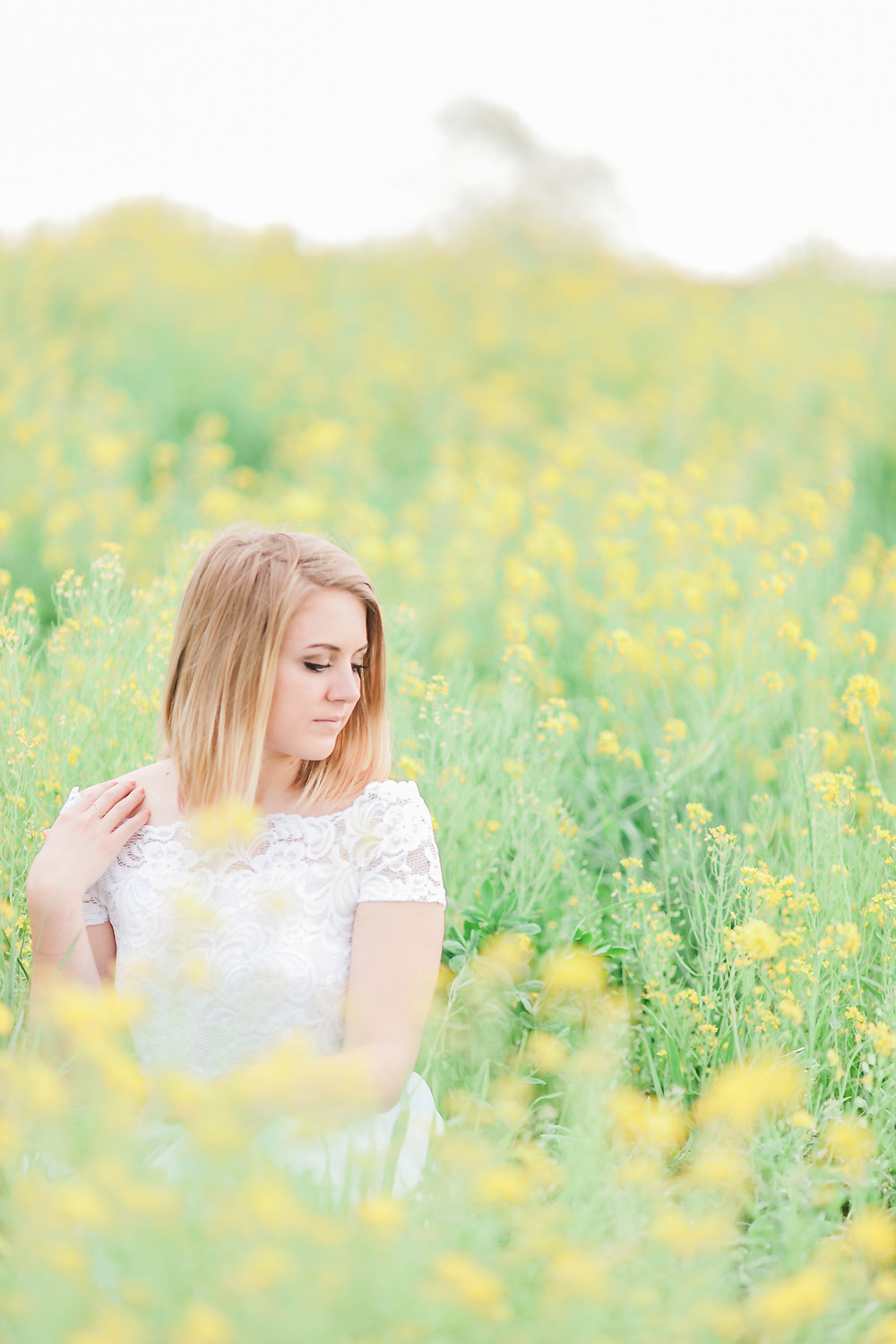 Yellow field portrait session 23