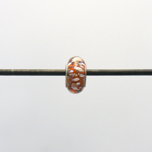 ambre avec éclats blanc, gris et verre aventuriné