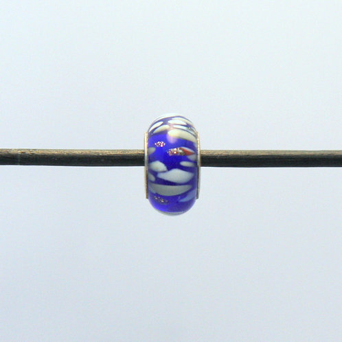 bleu moucheté