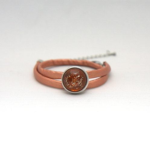 bracelet double tour avec base de pression