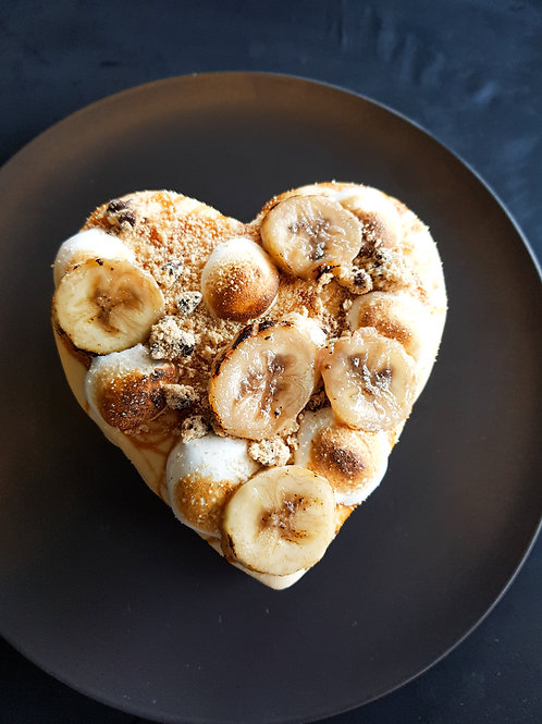 Brownie Love Heart Ice Cream Cake