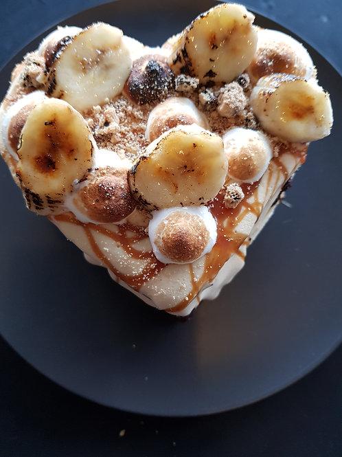 Brownie Love Heart Ice Cream Sandwich Cake