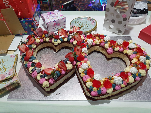 Love Heart Ice Cream Sandwich Cakes