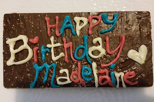 Celebration Chocolate Plaque