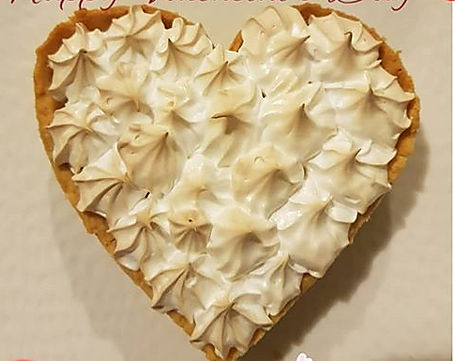 Love Heart Lemon Meringue Pie