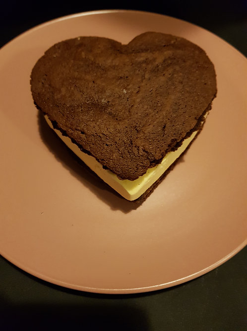 Love Heart Ice Cream Sandwich