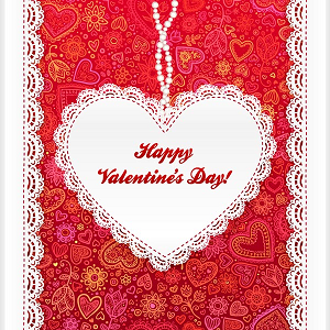 Enjoy a love-laced Valentine;s Day card